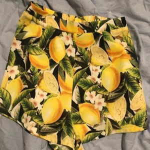 NWOT Show Me Your Mumu lemon drop shorts